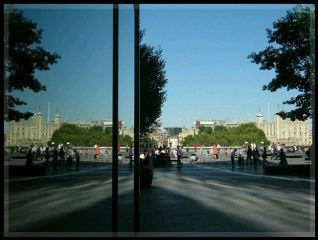 buildings london reflection