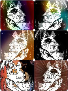colorful emotions color splash people black & white bokeh me