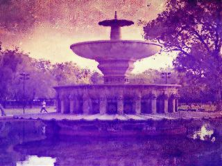 wappurple photography color splash colorful fountain